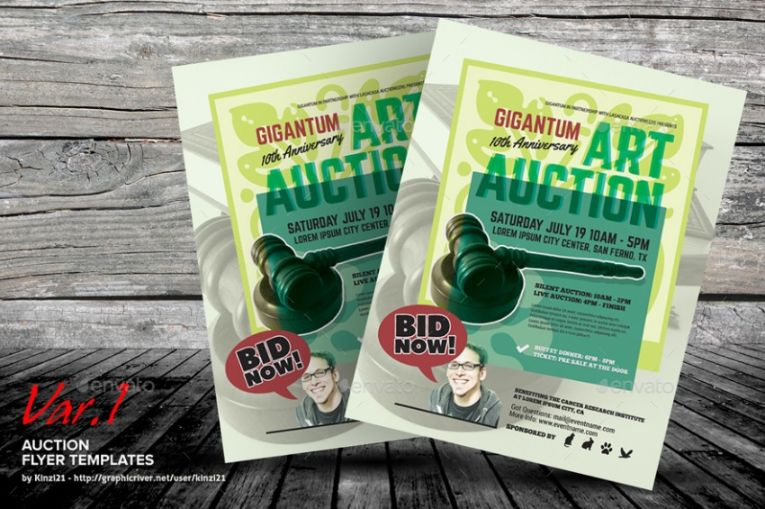 Charity Auction Poster Design