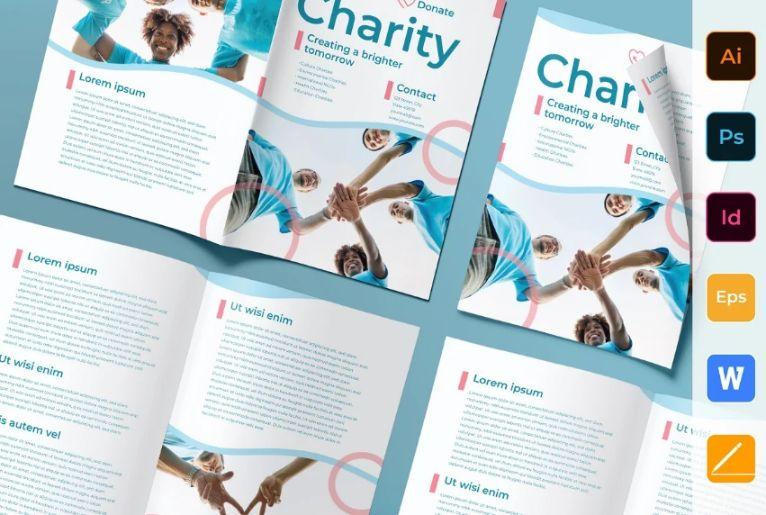 Charity Bi Fold Brochure Templates