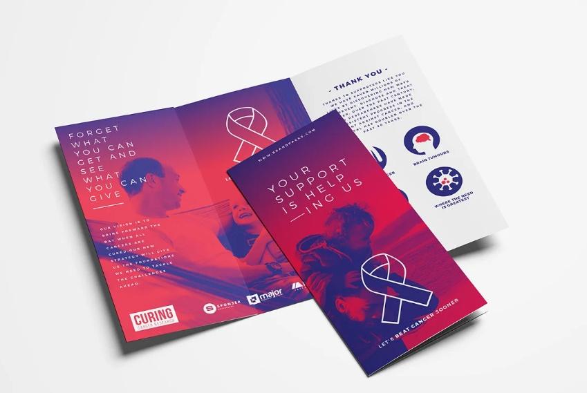 Charity Tri Fold Brochure Layout