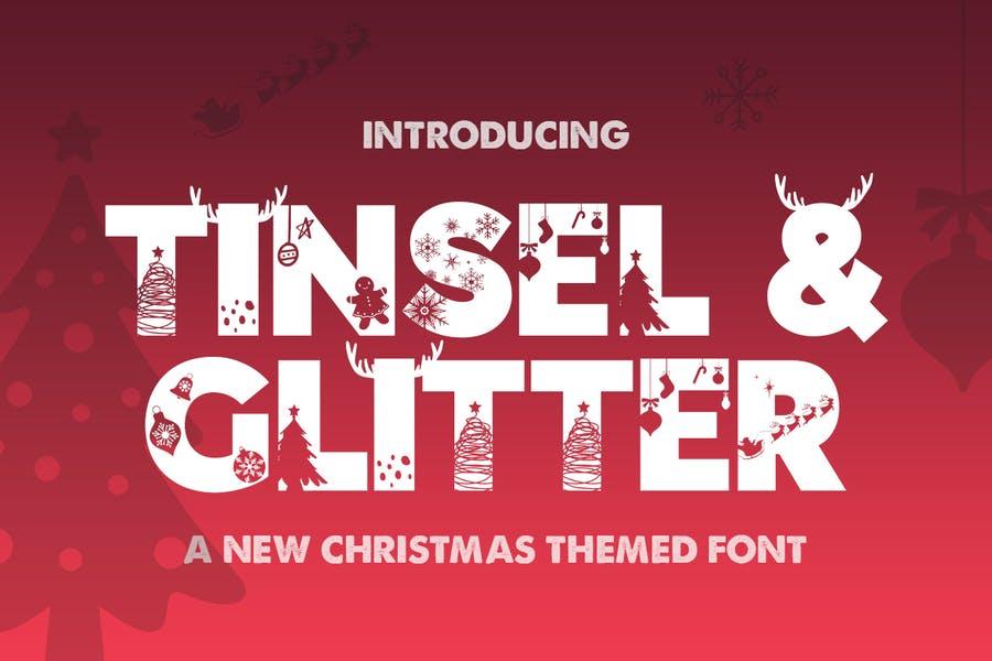 Christmas Themed Glitter Fonts
