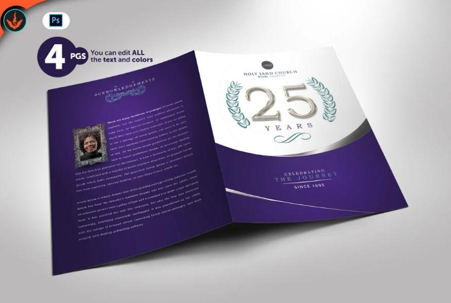 Church Anniversary Brochure Template