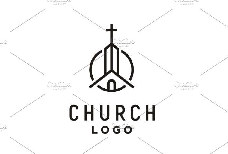 Church Building Logo Design Idea