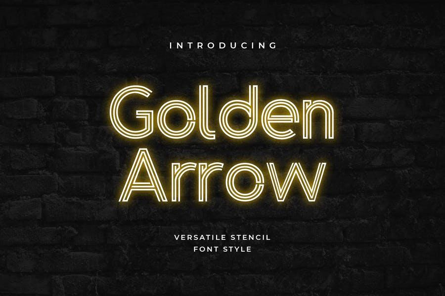 Classy Golden Arrow Fonts