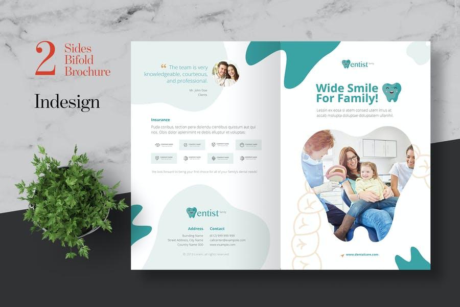 Clean Bi Fold Dental Brochures