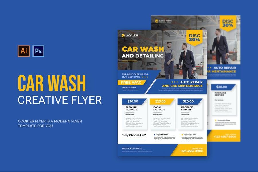 Clean Car Detailing Flyer
