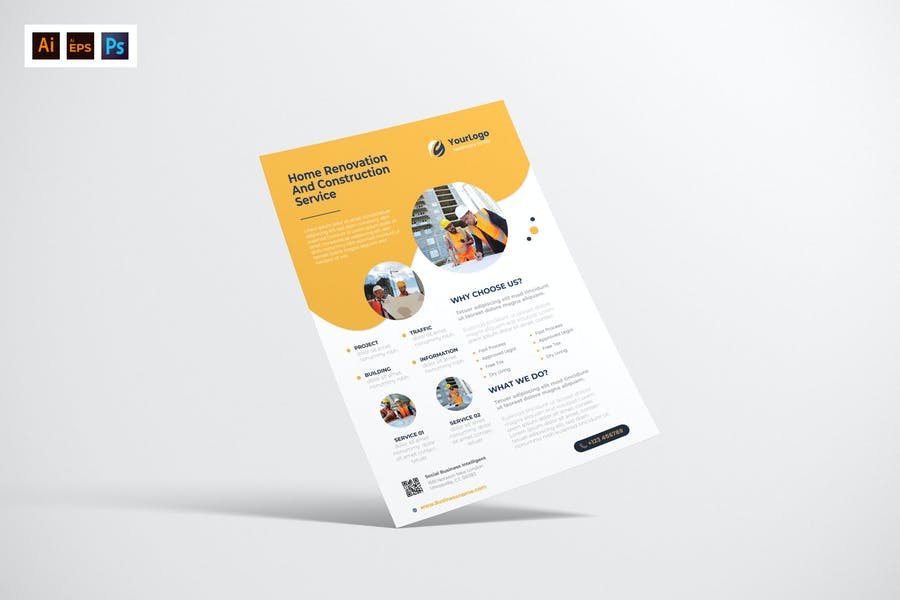 Clean Construction Business Poster