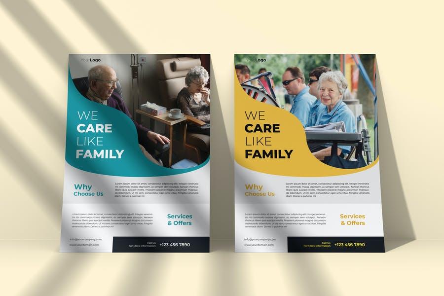 Clean Elderly Flyer Templates