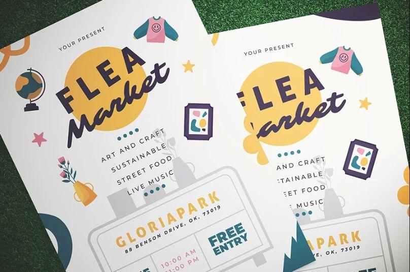 Clean Flea Market Ad Templates