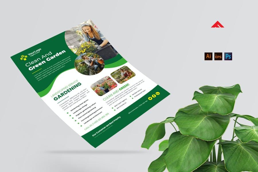 Clean Gardening Flyer Templates