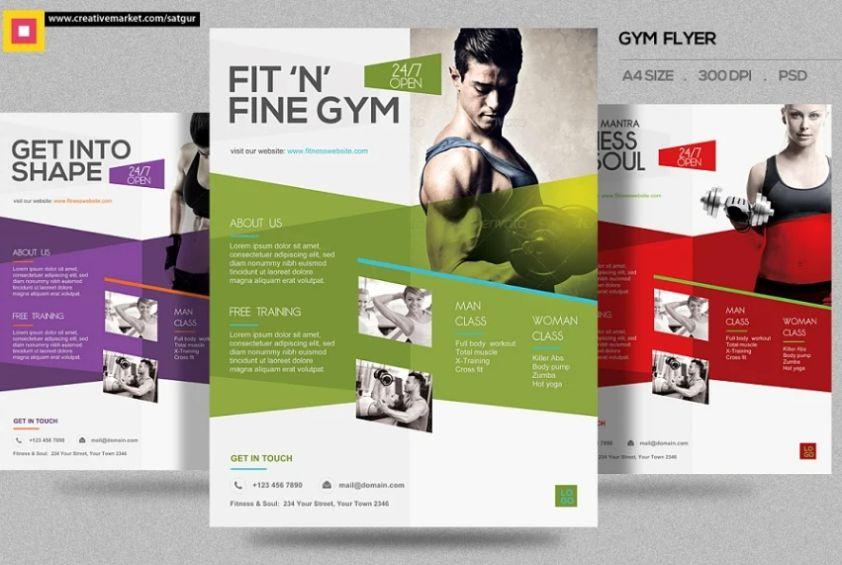 Clean Gym Advert Flyers