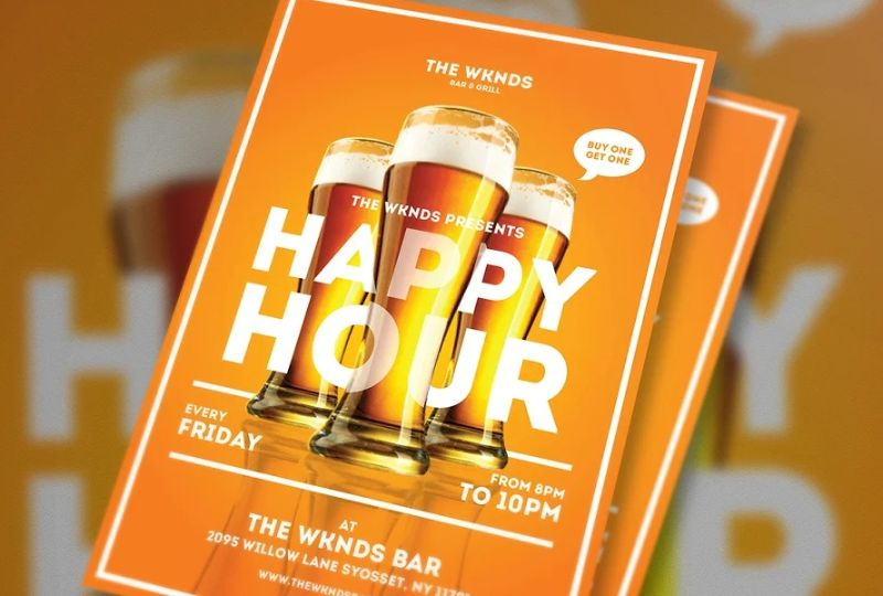 Clean Happy Hour Flyers
