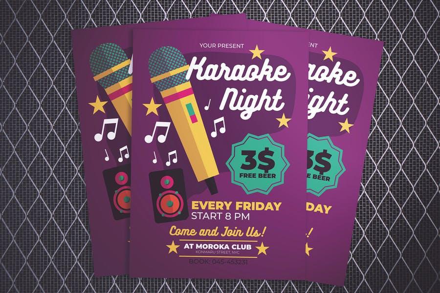 Clean Karaoke Flyer Template