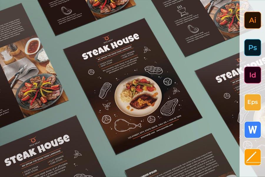 Clean Steakhouse Flyer