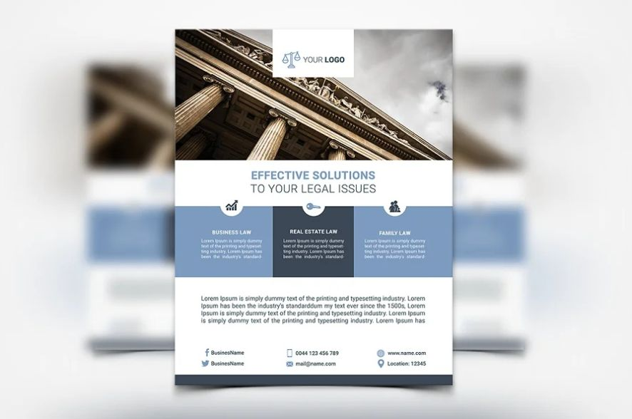 Clean lawyer Flyer Templates