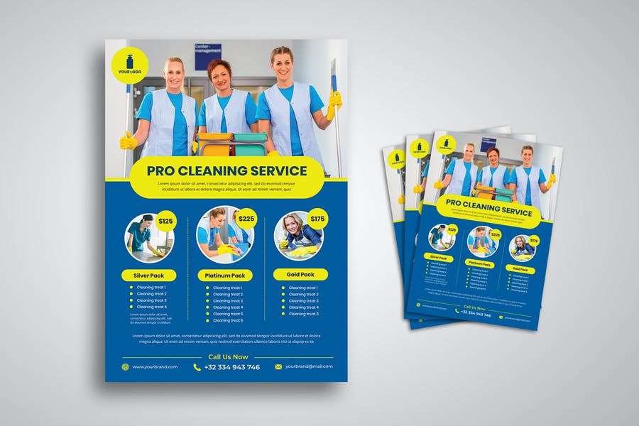 Cleaning Business Flyer Design