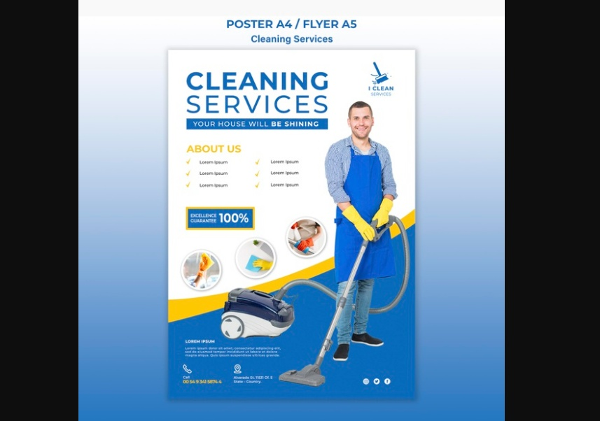 Cleaning Services Flyer Download
