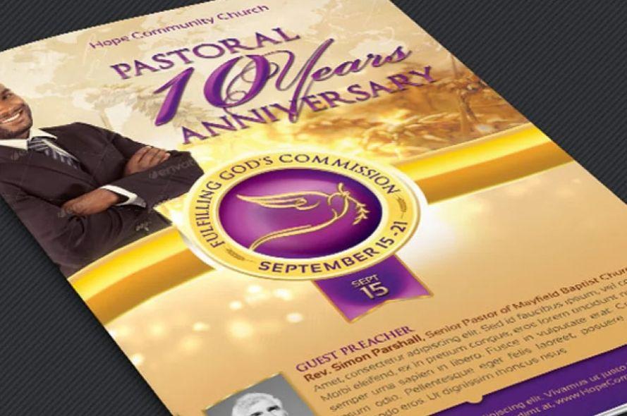 Clergy Service Brochure Templates