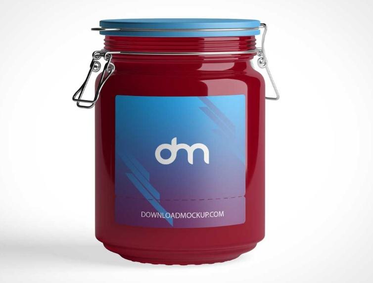 Clipped Jam Jar Mockups