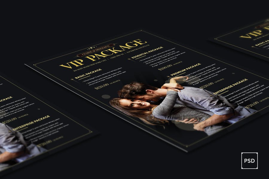Club VIP Package Flyer