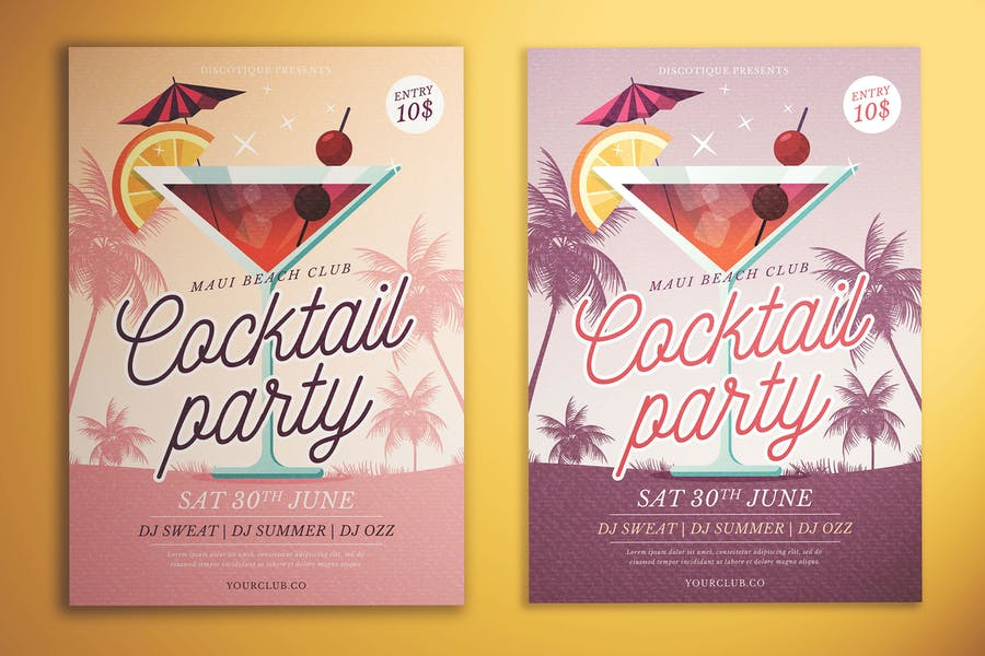 Cocktail Party Flyer Templates