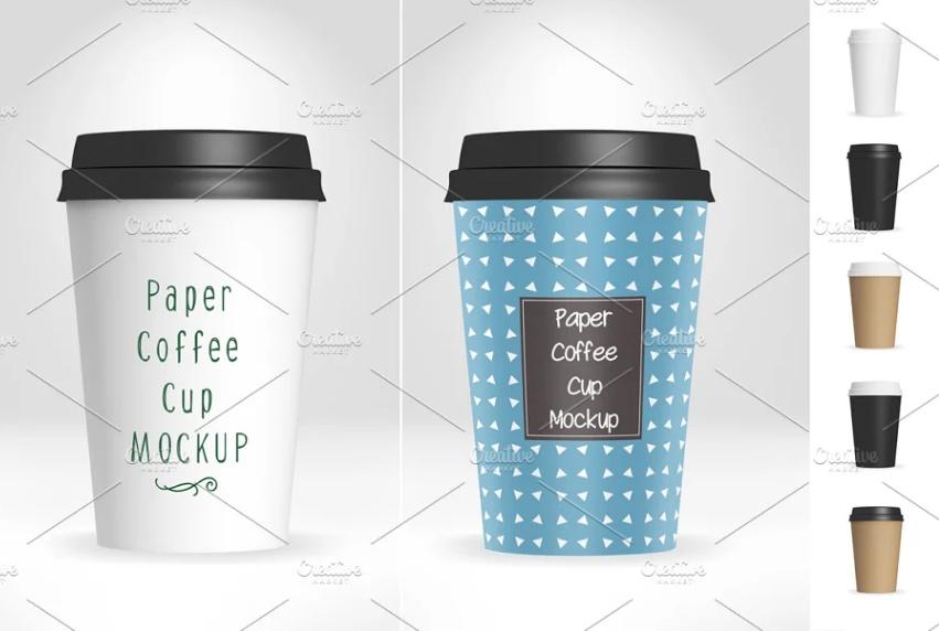 Coffee Cup Branding Mockup PSD