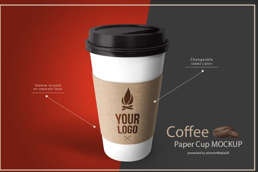 Coffee paper Cup Mockups