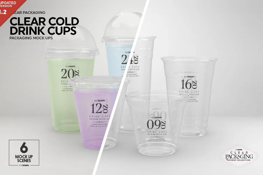 Cold Drinks Cup Mockup PSD
