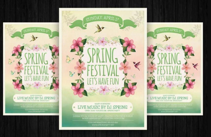 Colorful Flower Festival Flyer