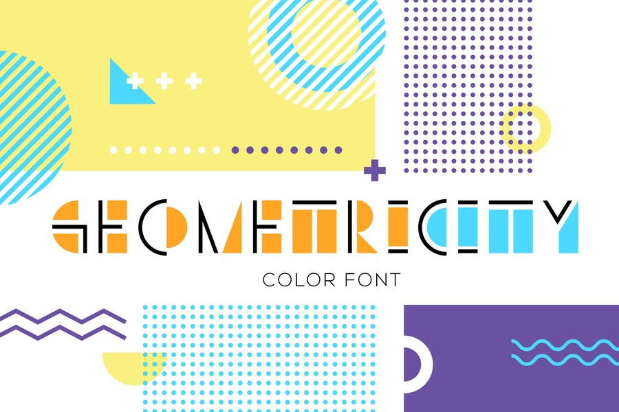 Colorful Geometric Typefaces