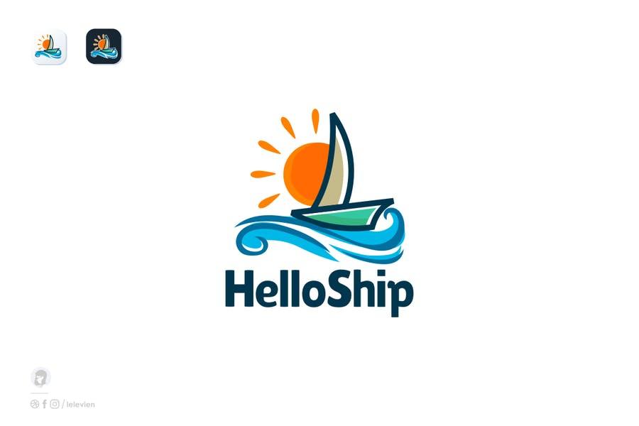 Colorful Ship Branding Template