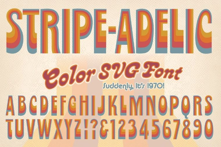 Colorful Stripe Typeface