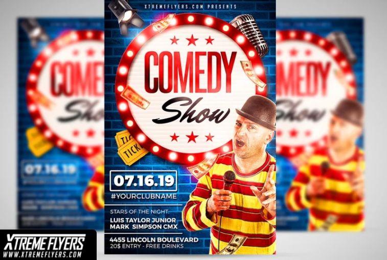 Comedy Artist Flyer Template