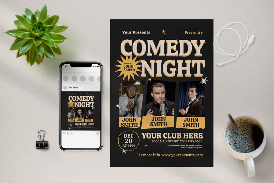 Comedy Night Promotional Set