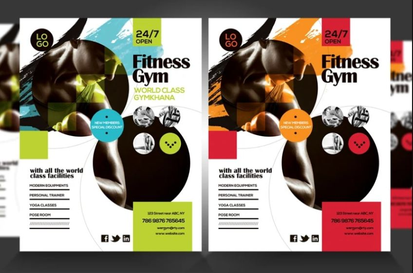 Commercial Gym Flyer Designs
