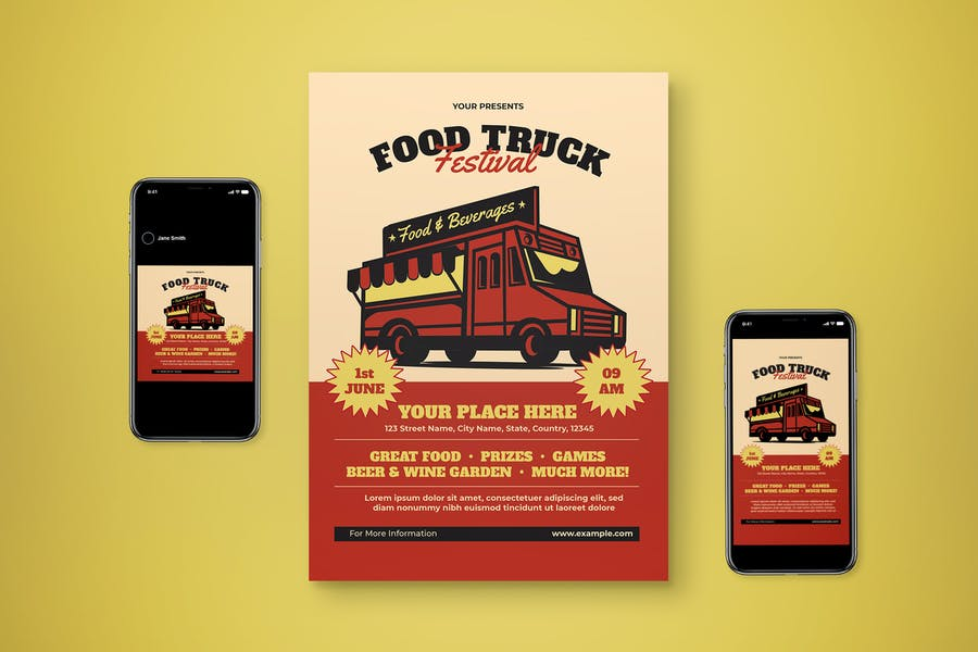 Compatible Food Flyer Templates
