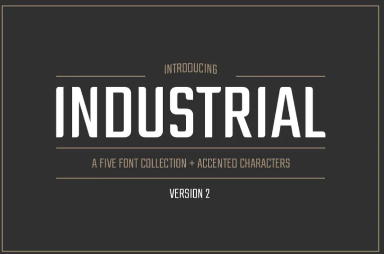 21+ Free Industrial Fonts TTF and OTF Download