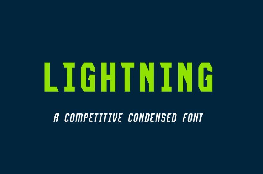 Condensed Lightning Fonts
