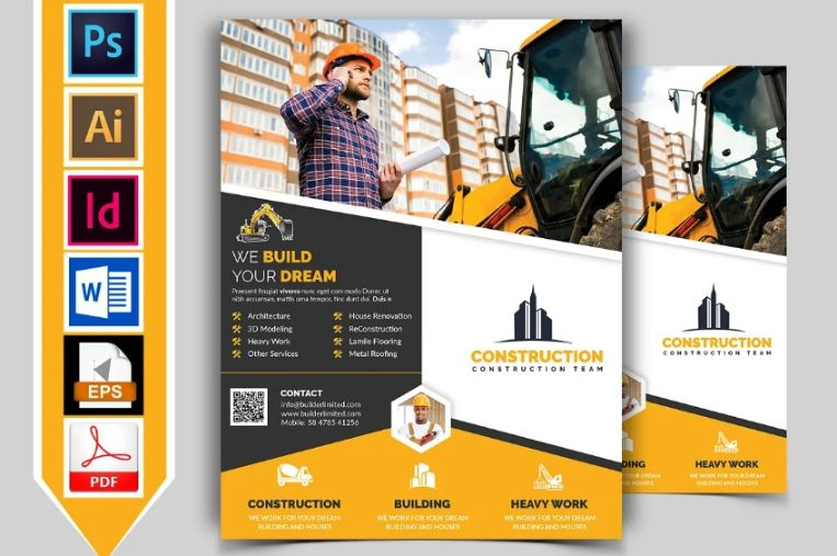 Construction Business Flyer Design