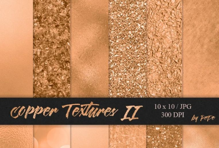 Copper Digital Papers Background