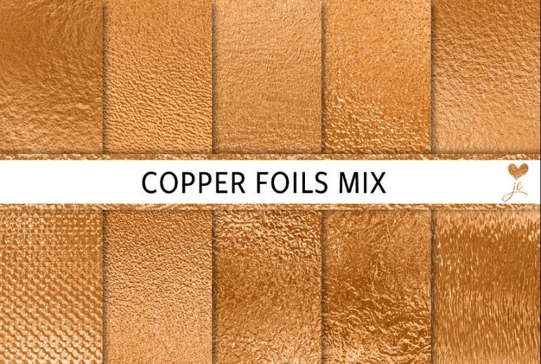 Copper Foils Mix Backgrounds