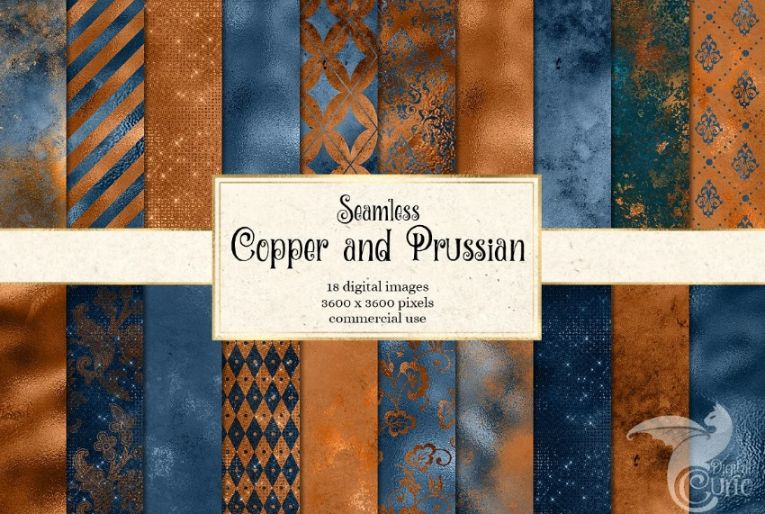 Copper and Prussian Backgrounds
