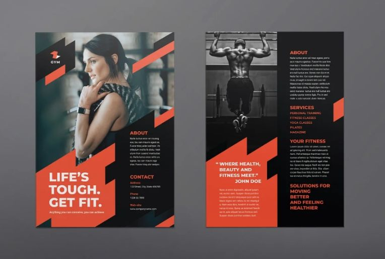 Corporate Gym Training Flyers