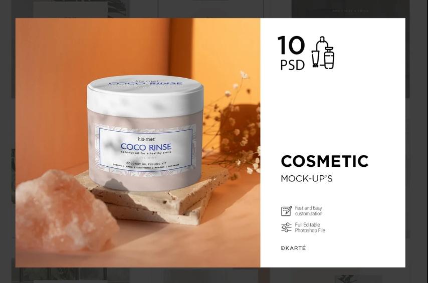 Cream Branding Mockup PSD