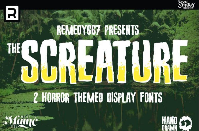 Creatie Horror Themed Fonts