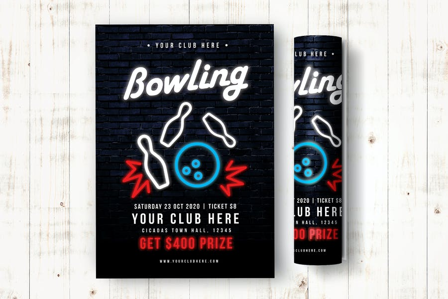 Creative Bowling Flyers