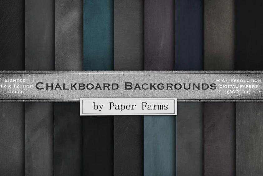 Creative Chalkboard Paper Textures