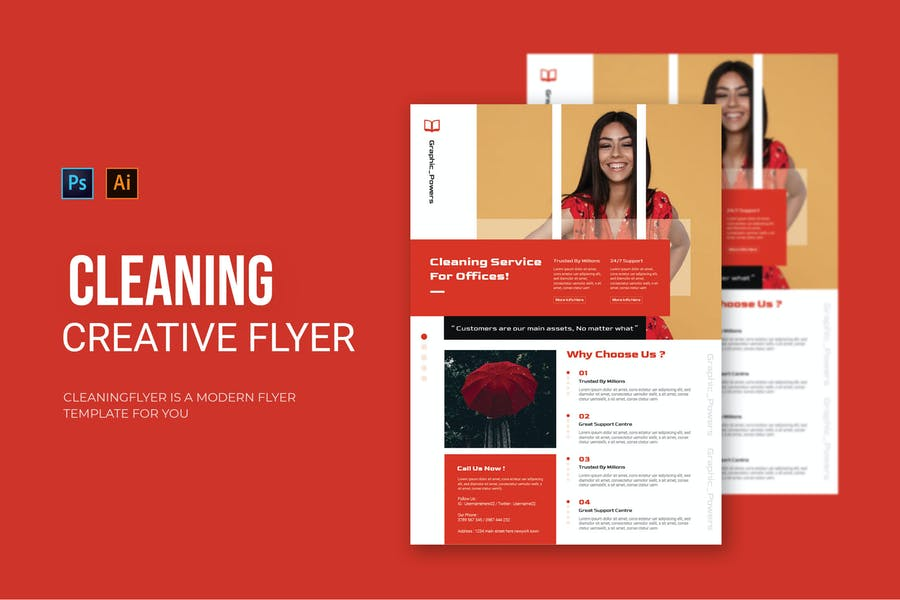 Creative Cleaning Services Flyer
