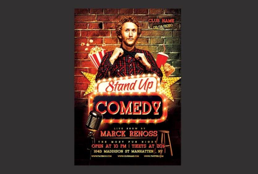 Creative Comedy Flyer Template