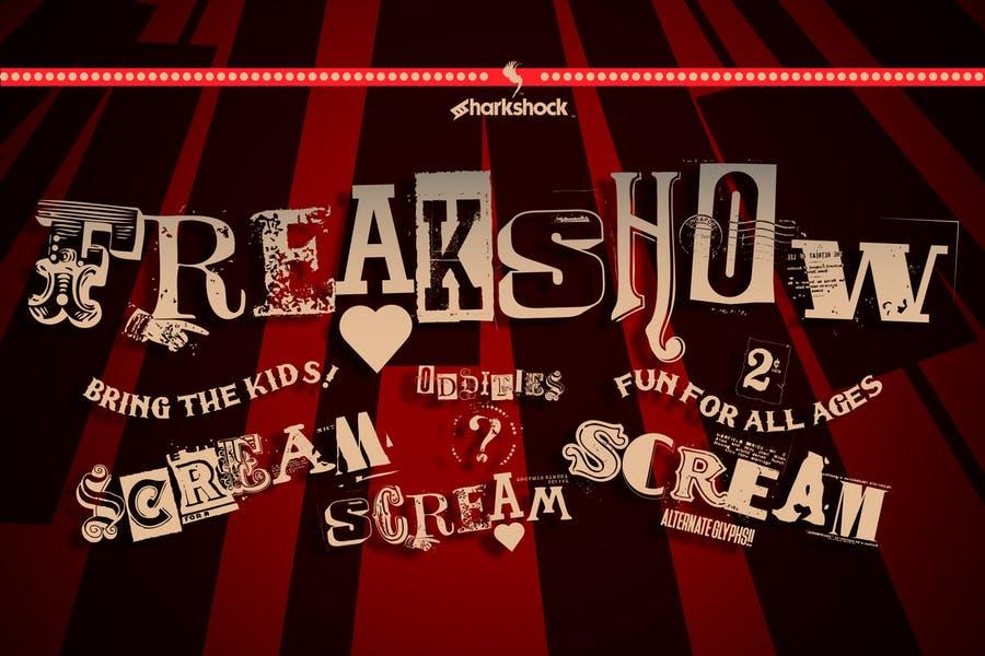 Creative Freak Show Typeface