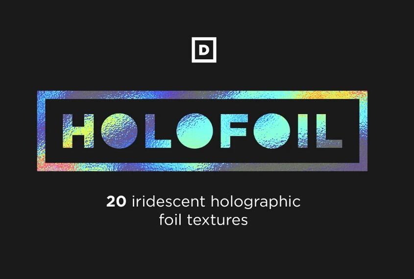 Creative Holographic Foil Textures
